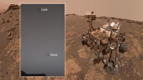 화성탐사 로버에 희미한 점으로만 포착된 지구