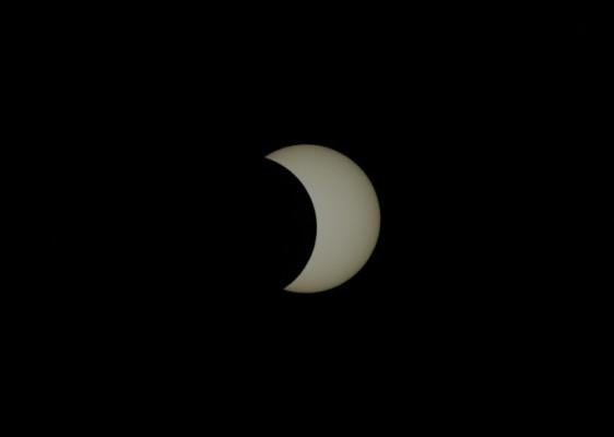 [영상+]'달, 해를 베어물다' 천문연 연구자들이 포착한 21일 부분일식
