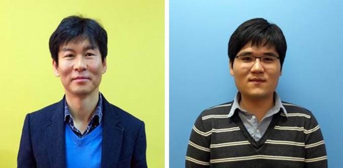 이효철 기초과학연구원(IBS) 나노물질 및 화학반응 연구단 부연구단장(왼쪽)과 김종구 IBS 선임연구원 연구팀은 원자가 결합해 분자로 변하는 전 과정을 처음으로 관측하는 데 성공했다. 과학기술정보통신부 제공