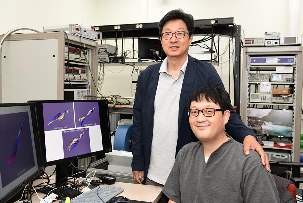 황찬용 표준연 양자기술연구소 책임연구원(왼쪽)과 김창수 선임연구원. 표준연 제공.