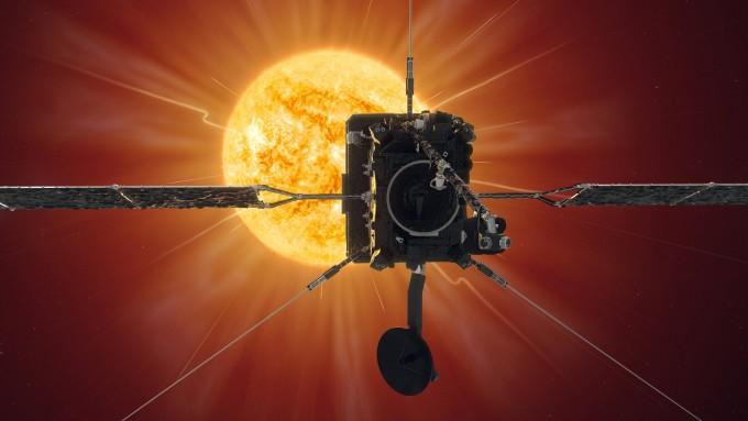 이달 15일 오후 12시35분(한국시간) 솔라 오비터가 태양 표면과의 거리를 7700만km 이내로 좁혔다. ESA 제공