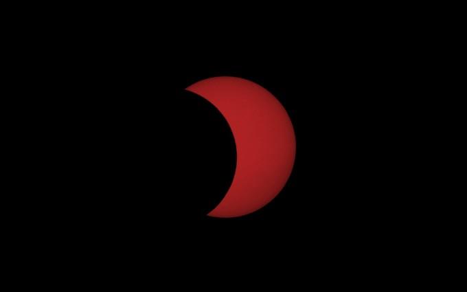 천문연대전 본원에서 촬영한 최대식 사진이다. 박영식 천문연 선임연구원이 오후5시 4분 촬영했다. 태양의 48%가 가려졌다. 한국천문연구원 제공
