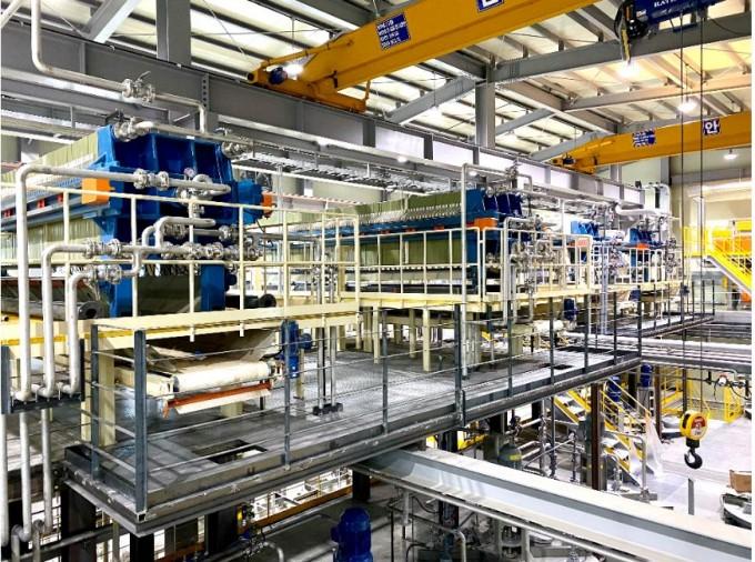 탈질폐촉매재활용 공장 내부. 지자연 제공