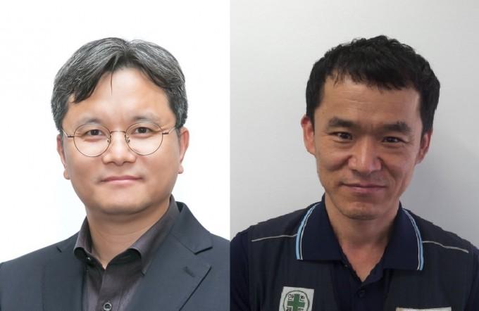 이인노 SK하이닉스 팀장(왼쪽)과 옥영두 금성볼트공업 연구소장이 대한민국 엔지니어상 6월 수상자로 선정됐다. 과학기술정보통신부 제공