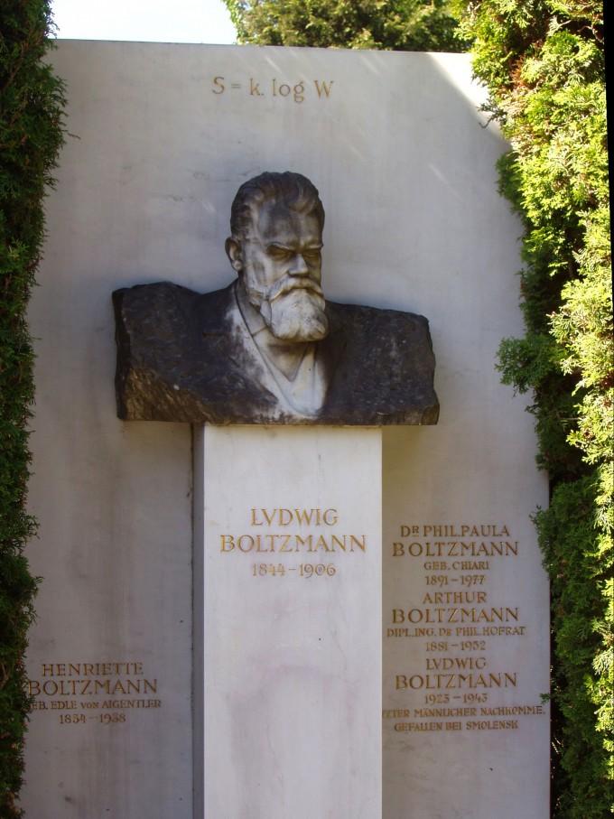 볼츠만 묘비에 적혀 있는 엔트로피 공식. 위키피디아 젝종