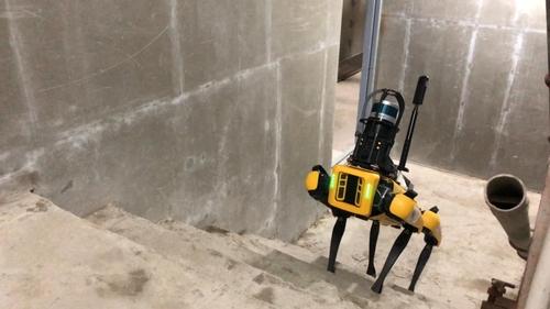 GS건설, 국내 최초로 건설 현장에 4족 보행 로봇 '스폿' 도입
