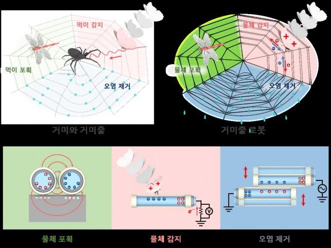 거미줄 쏘고 전기장 걸면 68배 무거운 물체가 붙잡힌다