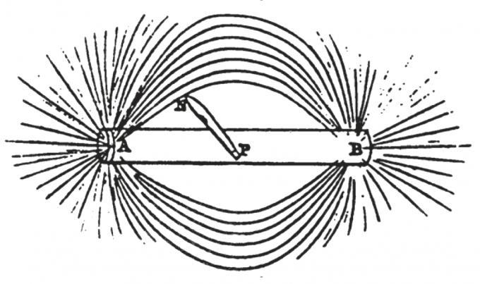 패러데이 전자기 유도 논문에 실린 자기 곡선 그림.