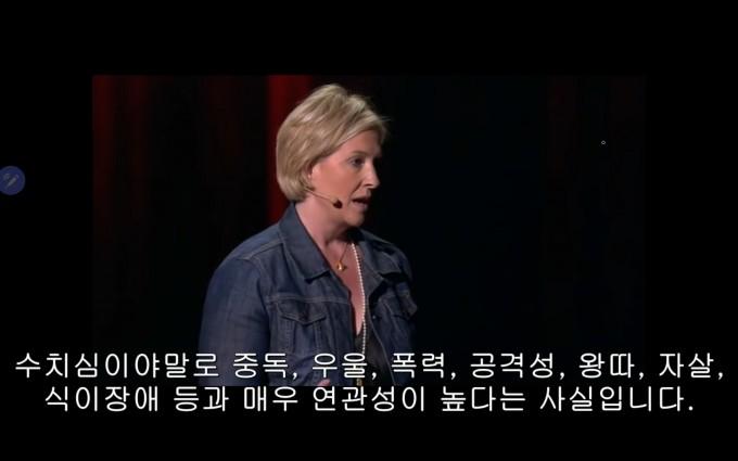 미국의 심리학자 브레네 브라운은 2012년 TED연설에서 수치심이 심신의 건강에 미치는 악영향을 설명했다. 오늘날 사회에 만연한 비만 낙인은 특히 여성들에게 큰 수치심을 느끼게 하고 있다. TED 캡쳐