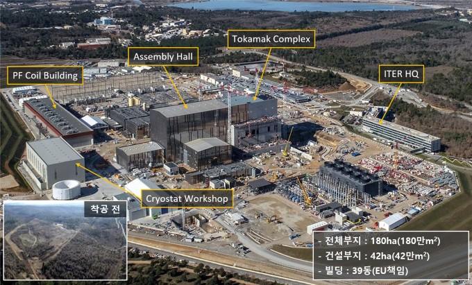 ITER 건설 현장 전경. 과기정통부 제공.
