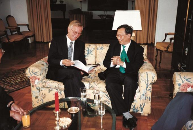 2014년 중국과학원을 방문한 후베르트