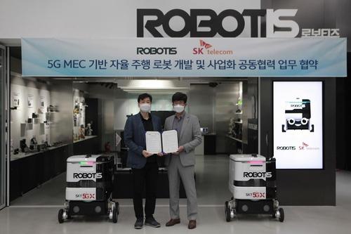 SKT, 로보티즈와 5G 자율주행 로봇으로 공장 무인화 '박차'