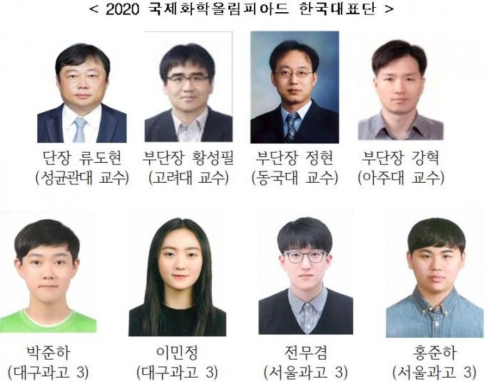 국제화학올림피아드에 참석한 한국 대표단이다. 과학기술정보통신부 제공