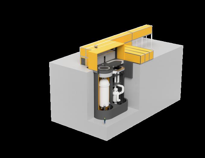 미국 USNC가 개발중인 초소형모듈원자로의 개념도다. 한국원자력연구원 제공