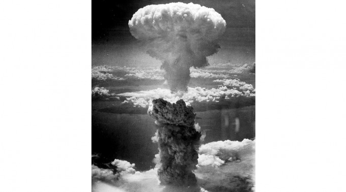 1945년 8월 9일 일본 나가사키에 투하된 원자폭탄의 버섯구름 모습이다. 위키피디아 제공