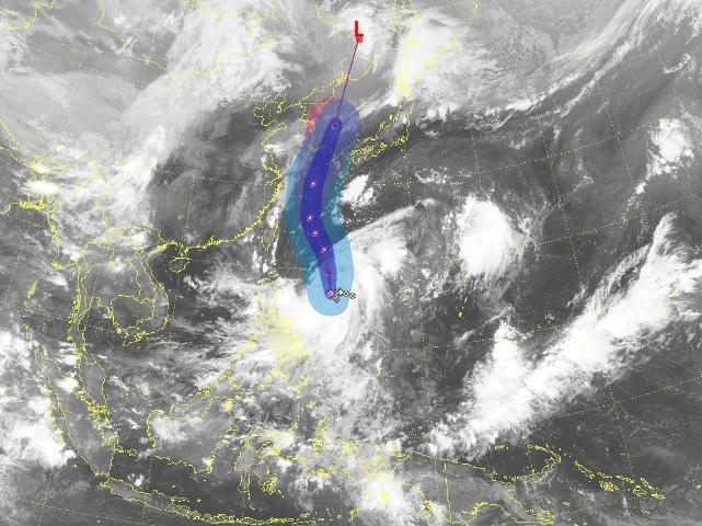 위성사진으로 본 제9호 태풍 마이삭. 기상청 날씨누리