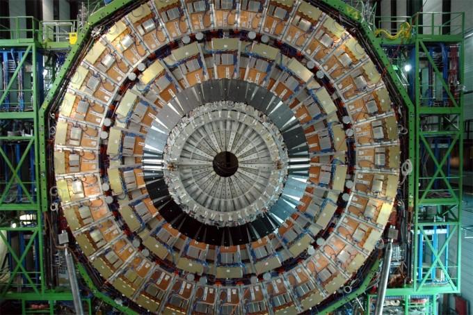 CMS의 뮤온 검출기 모습이다. CERN 제공