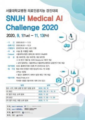 [의학게시판] 서울대병원 제1회 의료 AI 경진대회 개최