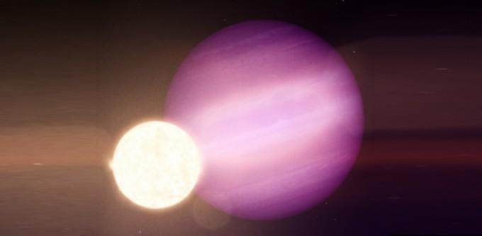 최근 학술지 '네이처'에는 지구 크기의 1.4배인 백색왜성 주위를 도는 목성 크기의 외계 행성을 발견했다는 논문이 실렸다. 두 천체를 묘사한 상상도로 왼쪽 아래가 백색왜성 WD 1856+534이고 오른쪽 위가 행성이다. NASA 제공