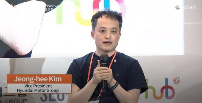김정희 현대차 상무는 현대차에서 진행 중인 AI 적용 사례를 소개했다. 세계지식포럼 동영상 캡처