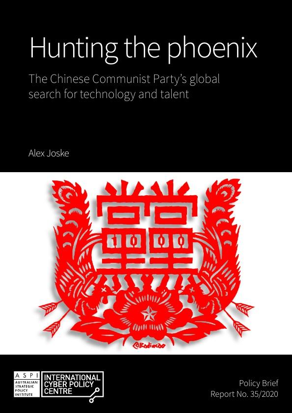 호주 싱크탱크인 ′호주전략정책연구소(ASPI)′가 8월 발간한 중국의 천인계획 분석 보고서 표지. ASPI 제공