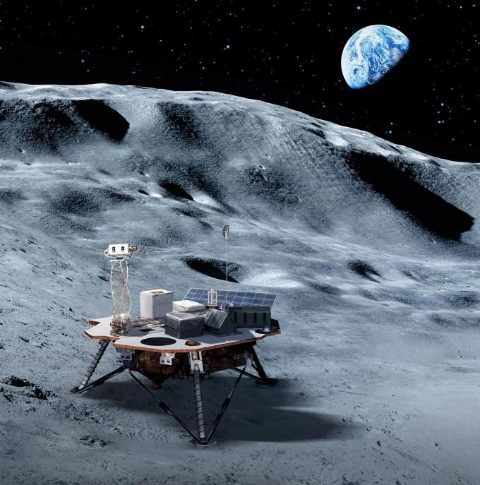 미국항공우주국(NASA)은 2024년 달에 인간을 보내는 ′아르테미스 프로젝트′를 준비하기 위해 민간 우주 기업들과 손잡고 달에 착륙선과 로버 등을 보내는 ′상업 달 탑재체 서비스(CLPS)′ 사업을 진행하고 있다. 사진은 달 착륙선 상상도다. NASA 제공