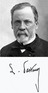 루의 파스퇴르((1822~1895))와 그의 사인. 위키미디어 제공