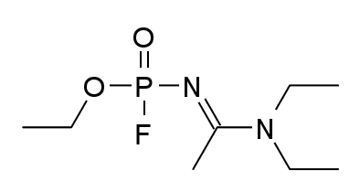 노비초크의 여러 화합물 중 하나인 ′노비초크 A234′의 화학 구조. 키피디아 제공