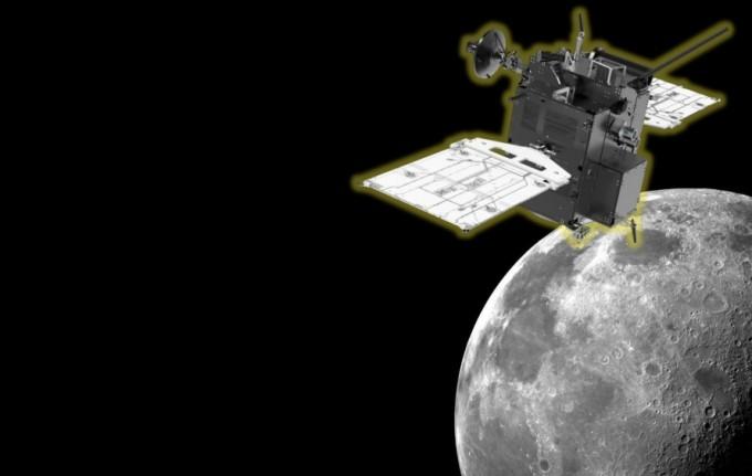 한국 달 궤도선이 달에 근접하고 있는 상상도. 한국항공우주연구원 제공.