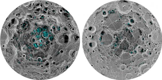 달 남극에서 '물 분자' 확인