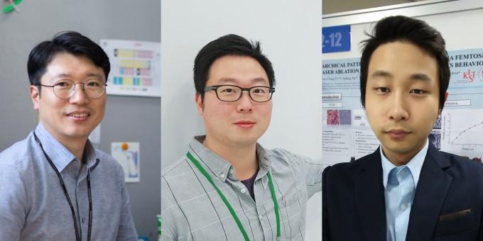 연구에 참여한 전호정 책임연구원과 엄승훈 학생연구원, 정용우 학생연구원(왼쪽부터). KIST 제공