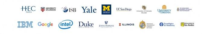 대표적인 무크 플랫폼인 코세라와 협력하고 있는 대학과 기업들. 코세라 제공