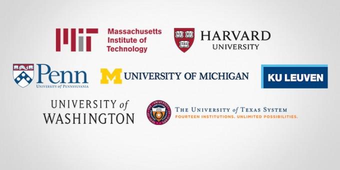 최상위권 대학들도 온라인 강좌가 촉발할 대학의 변화를 주도하거나 최소한 뒤처지지 않기 위해 온라인공개강좌(MOOC·무크) 플랫폼에 참여하고 있다. 이미지는 에덱스(Edx)와 협력중인 대학들. 에덱스 제공