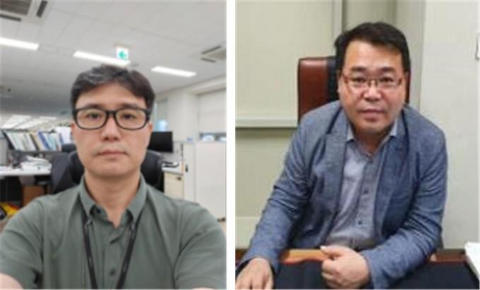 김철민 LS전선 수석연구원(왼쪽)과 이재복 이랑텍 대표이사가 이달의 대한민국 엔지니어상 수상자로 선정됐다. 과학기술정보통신부 제공