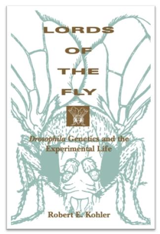 20세기 초반 유전학의 대표적인 생물이 된 초파리 연구공동체는 모건을 중심으로 연구재료와 지식의 공유를 하나의 문화로 만들어나갔다. 그 과정을 다룬 책 로버트 쾰러의 《파리 대왕》. 시카고대 출판사