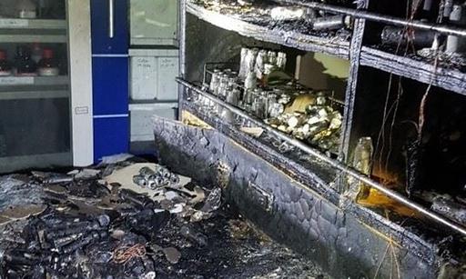 지난 2019년 12월 27일 경북대학교 화학관 1층 실험실 폭발 사고 현장 모습. 대구소방안전본부