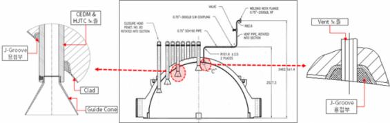 한빛 5호기, 원자로 헤드와 관통관 불량 용접재 썼다