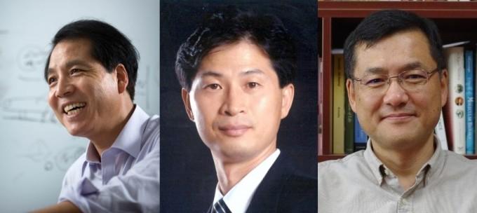 2021년 한국과학기술한림원 신입 정회원 30명이 30일 공개됐다. 왼쪽부터 석상일 UNIST 교수, 이경부 서울대 교수, 박범순 KAIST 교수다. 한국과학기술한림원 제공