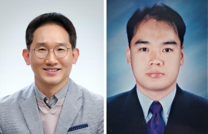 강병일 LG화학 연구위원(왼쪽)과 박상혁 일신웰스 수석연구원이 이달의 대한민국 엔지니어상 수상자로 선정됐다. 과학기술정보통신부 제공