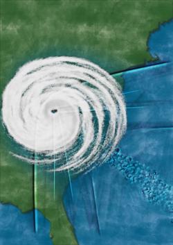 기후변화로 더 많은 습기를 머금은 허리케인은 육지에 상륙해서도 에너지가 줄어들지 않는다. 실제로 최근 허리케인이 과거보다 육상 상륙 뒤 에너지가 덜 감소한다는 결과가 나왔다. OIST 제공