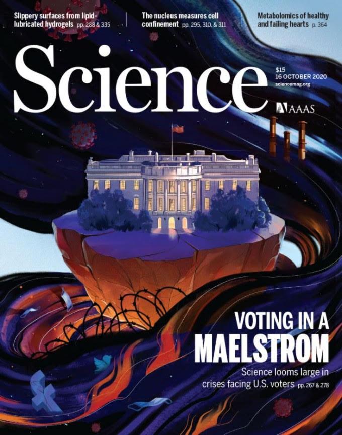 미국을 대표하는 과학잡지 사이언스는 백악관을 표지로 삼으며, 과학적 증거를 무시하는 트럼프에 대한 공개적인 반대의사를 정치적으로 표명했다. 사이언스 제공