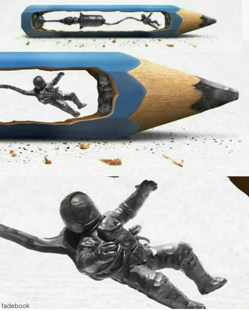 정교한 연필 작품