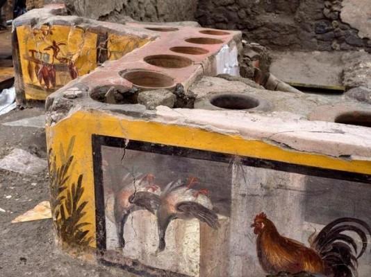 고대도시 폼페이서는 닭·오리 즉석음식 길거리서 팔았다