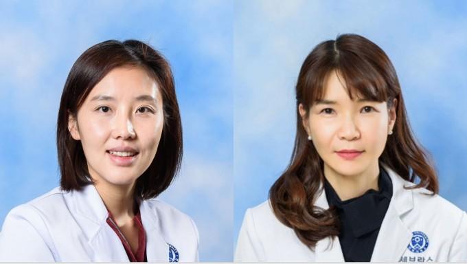 권유진(왼쪽) 연세대 용인세브란스병원 가정의학과 교수와 이지원(오른쪽) 강남세브란스병원 교수. 세브란스병원 제공