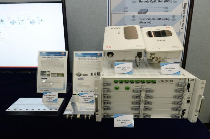 한국전자통신연구원(ETRI)은 28GHz 기반 광대역 5G 신호를 건물 내로 보내는 광중계기 개발에 성공했다. ETRI 제공