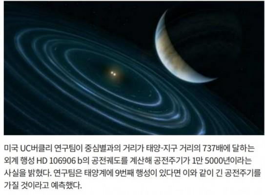 공전주기1만 5000년 외계행성 존재… 태양계 9번째 행성 힌트 될까