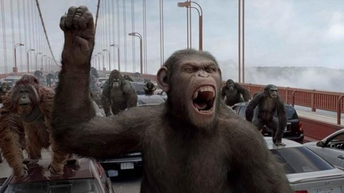 지난 2011년 개봉된 영화 '혹성탈출: 진화의 시작'은 침팬지 시저가 손상된 뇌기능을 회복시키는 약을 먹고 언어 능력을 획득함으로써 유인원을 규합해 인간에 대항한다는 시나리오다. 실제 인간이 고도의 주도적 공격성을 진화시키게 된 데에는 언어 능력이 결정적인 역할을 했을 것이다. 이십세기폭스코리아(주)