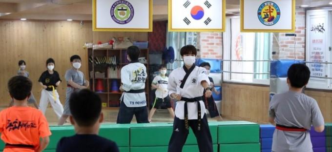 광주 남구 봉선동 한 태권도 도장의 모습이다. 연합뉴스 제공