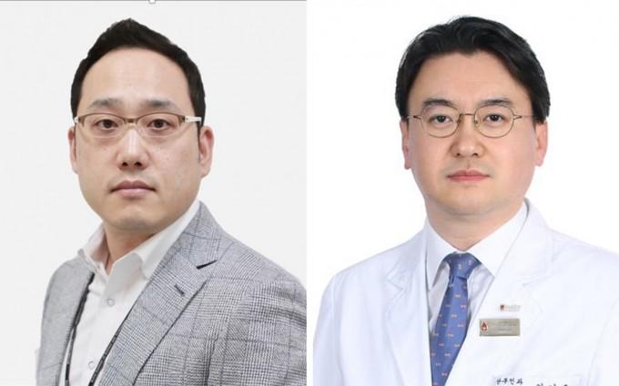이수현 한국과학기술연구원(KIST) 뇌과학연구소 책임연구원(왼쪽) 연구팀은 안기훈 고려대 안암병원 산부인과 교수팀과 공동연구를 통해 조산을 미리 진단하고 동시에 치료도 가능한 전자약을 개발했다. KIST 제공