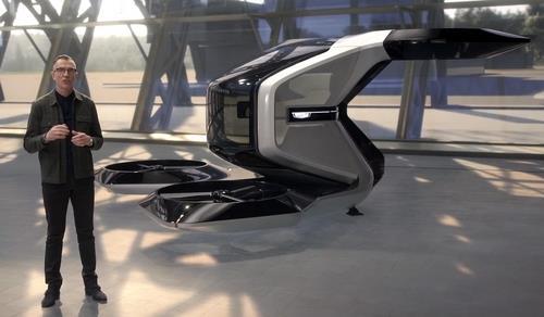 GM의 드론 콘셉트 디자인 ′버톨′(VTOL). [메리 바라 GM CEO의 CES 기조연설 동영상에서 캡처